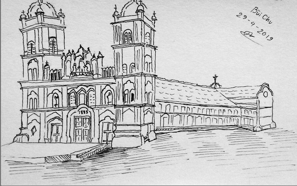 Giáo dân Bùi Chu phát hiện nhà thờ của mình lộng lẫy trên... ký họa - Ảnh 15.