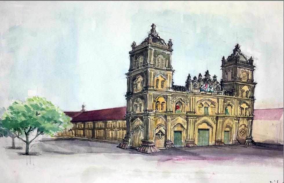 Giáo dân Bùi Chu phát hiện nhà thờ của mình lộng lẫy trên... ký họa - Ảnh 3.