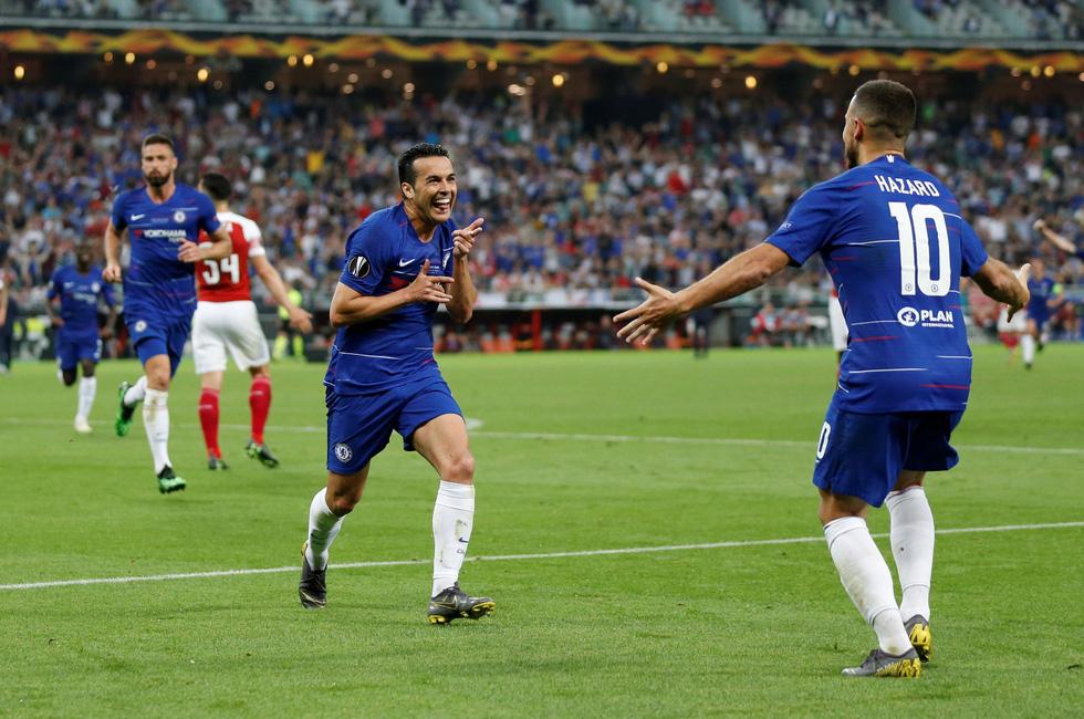 Chelsea tưng bừng ăn mừng chức vô địch Europa League - Ảnh 1.