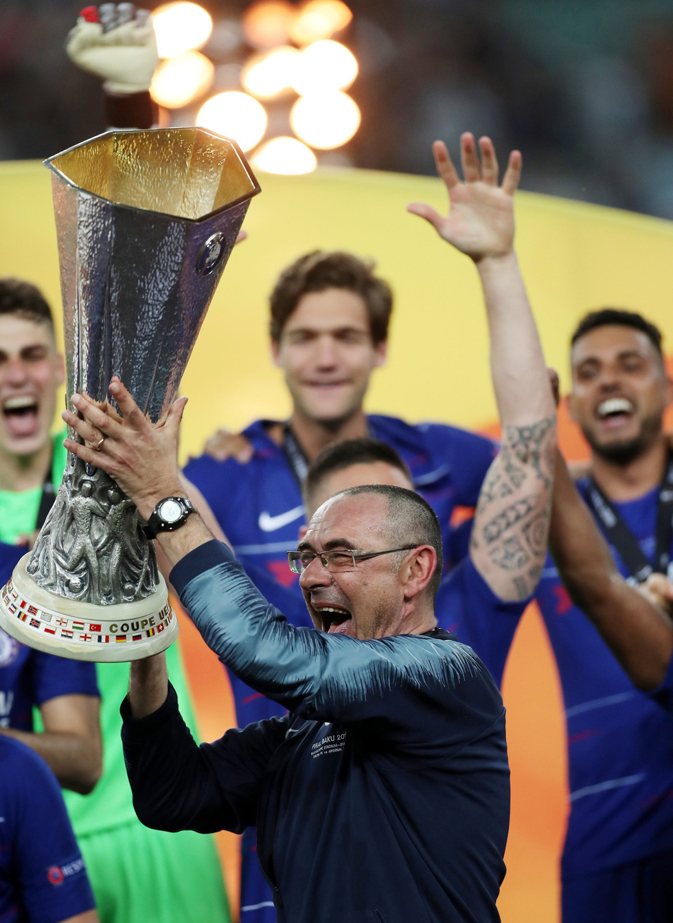 Chelsea tưng bừng ăn mừng chức vô địch Europa League - Ảnh 7.