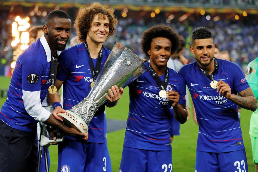 Chelsea tưng bừng ăn mừng chức vô địch Europa League - Ảnh 12.