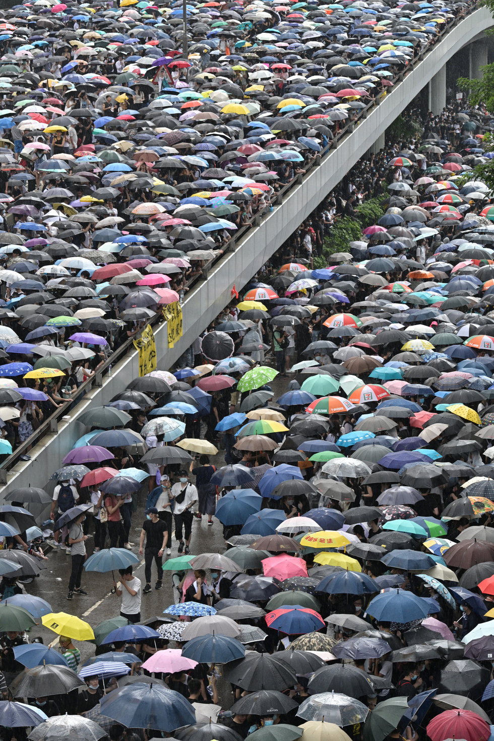 Đụng độ dữ dội giữa cảnh sát và người biểu tình ở Hong Kong - Ảnh 3.