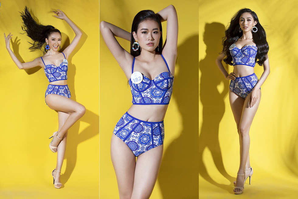 32 ứng viên Hoa hậu Thế giới Việt Nam trong trang phục áo tắm - Ảnh 1.