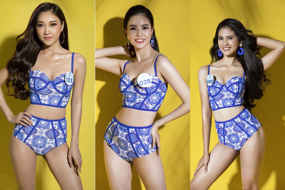 32 ứng viên Hoa hậu Thế giới Việt Nam trong trang phục áo tắm - Ảnh 3.