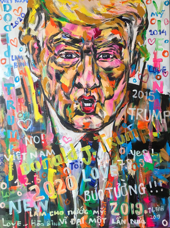 5 năm miệt mài vẽ Donald Trump, họa sĩ Việt được mời triển lãm tại Ý - Ảnh 1.