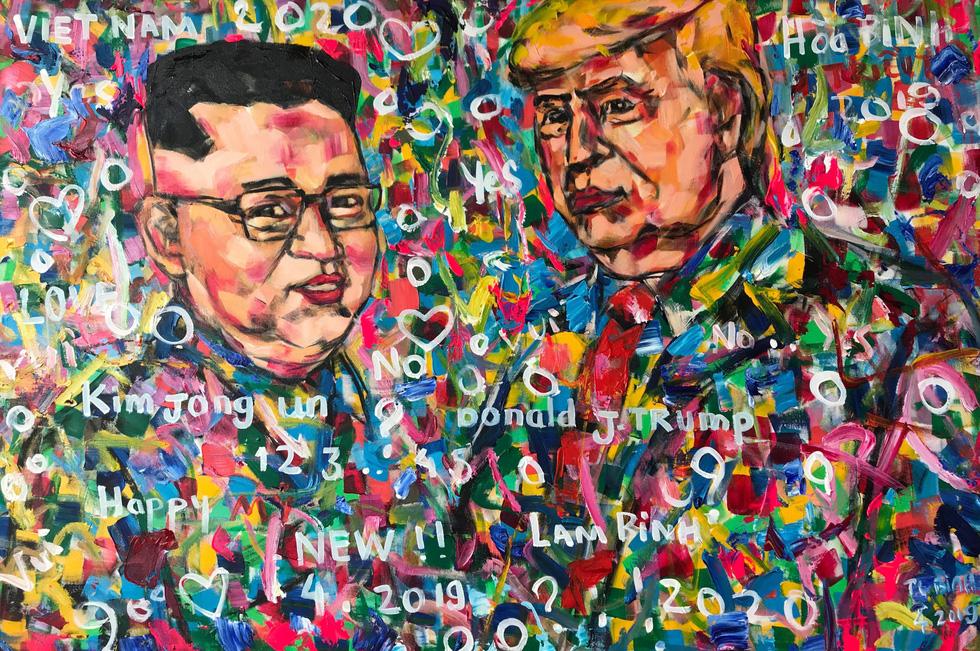 5 năm miệt mài vẽ Donald Trump, họa sĩ Việt được mời triển lãm tại Ý - Ảnh 5.