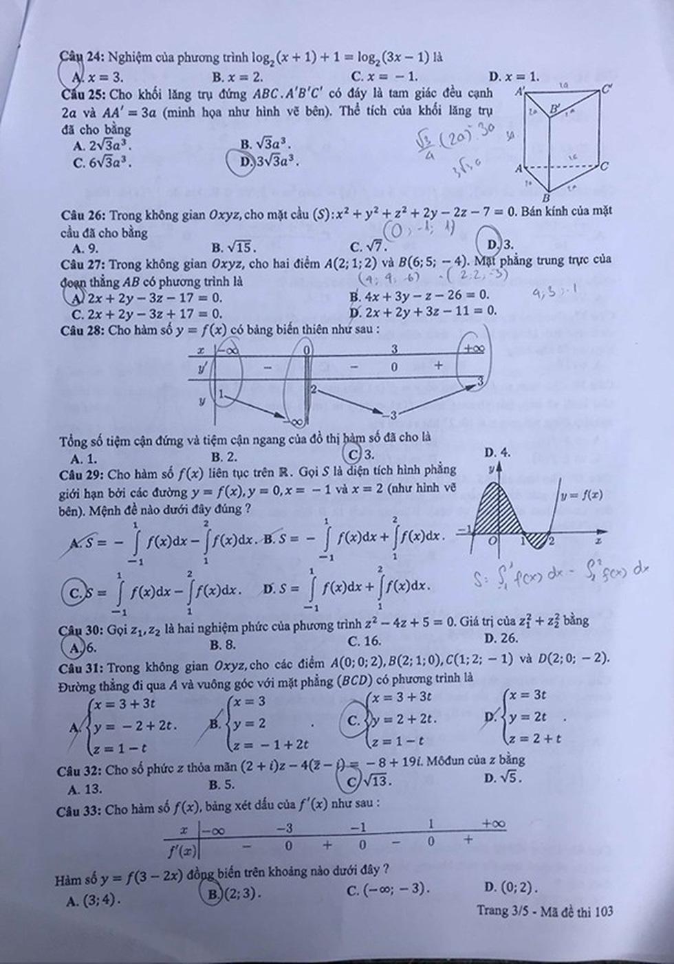 Đáp án môn toán thi THPT quốc gia 2019 - Ảnh 12.