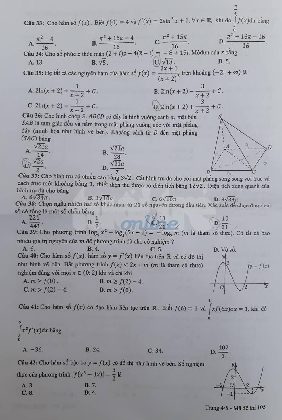 Đáp án môn toán thi THPT quốc gia 2019 - Ảnh 28.