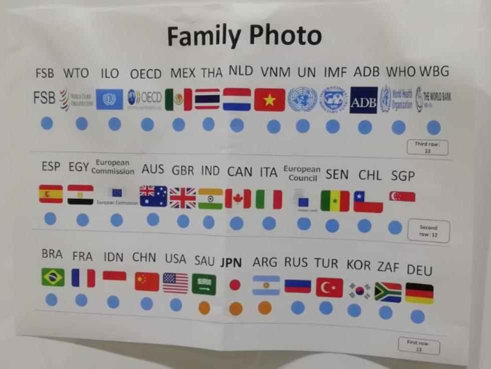 Tiết lộ hậu trường chụp ảnh gia đình G20 ở Osaka - Ảnh 2.