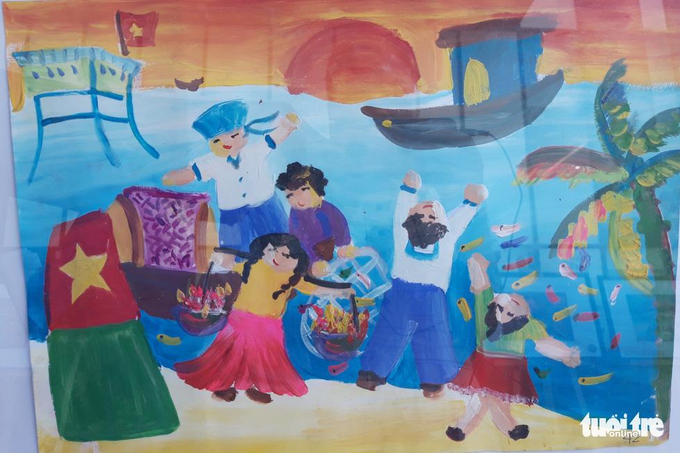 Ước mơ xúc động của trẻ em qua tranh vẽ Hoàng Sa, Trường Sa - Ảnh 5.