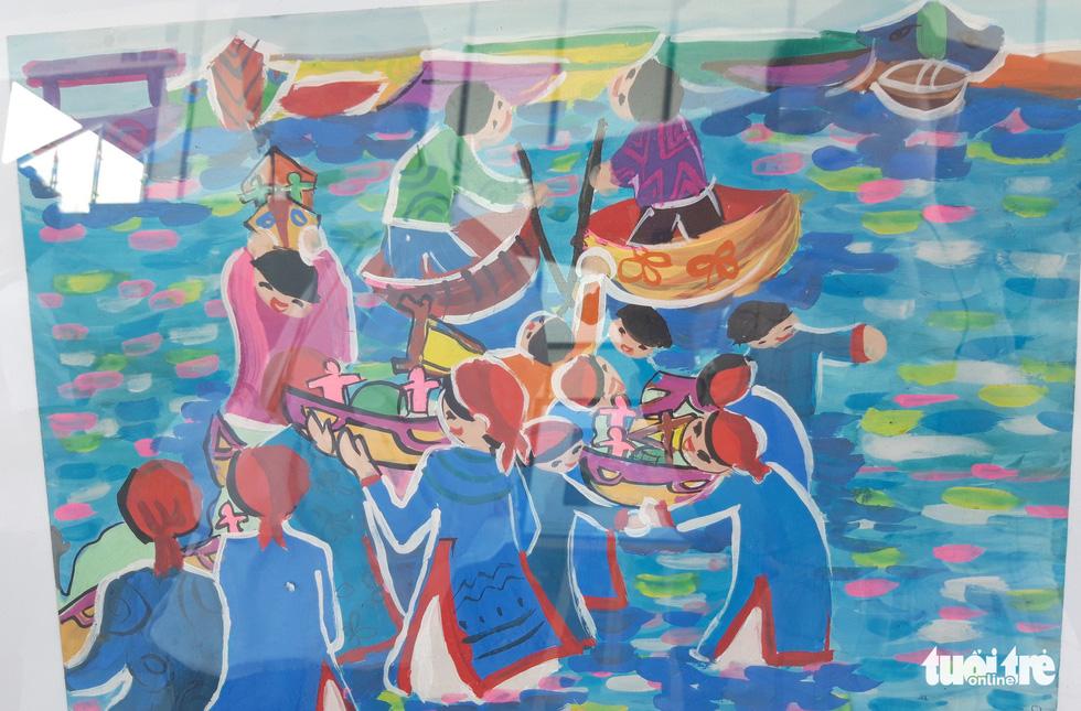 Ước mơ xúc động của trẻ em qua tranh vẽ Hoàng Sa, Trường Sa - Ảnh 6.