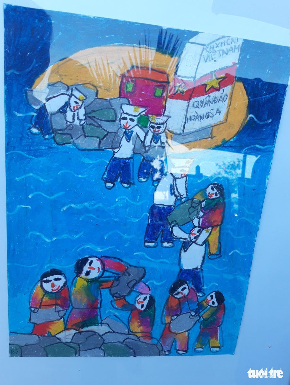 Ước mơ xúc động của trẻ em qua tranh vẽ Hoàng Sa, Trường Sa - Ảnh 7.