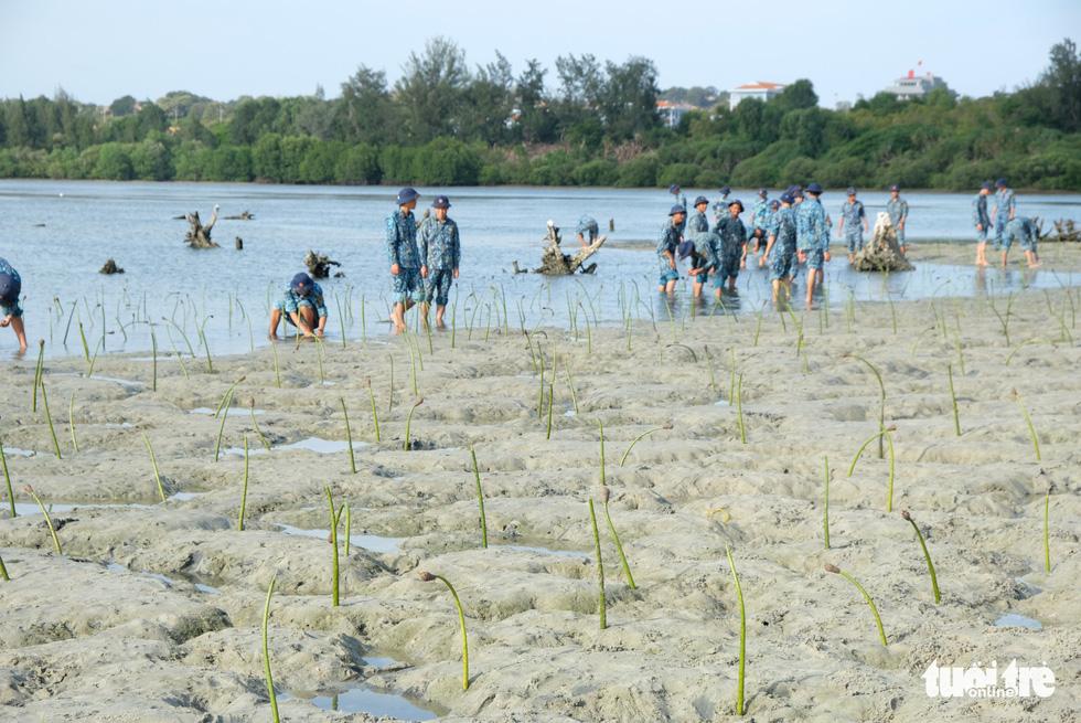 4.000 cán bộ, chiến sĩ hải quân cùng nhau làm sạch biển Cam Ranh - Ảnh 14.
