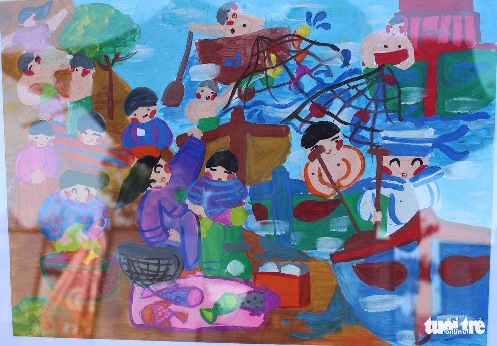 Ước mơ xúc động của trẻ em qua tranh vẽ Hoàng Sa, Trường Sa - Ảnh 9.