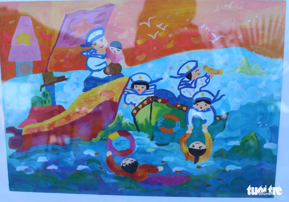 Ước mơ xúc động của trẻ em qua tranh vẽ Hoàng Sa, Trường Sa - Ảnh 10.