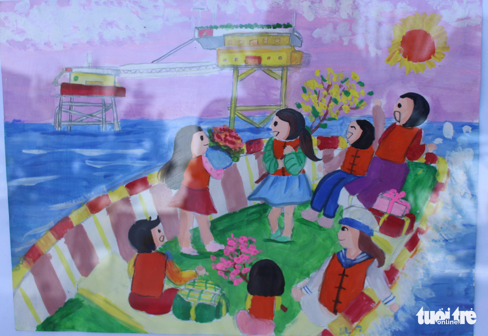 Ước mơ xúc động của trẻ em qua tranh vẽ Hoàng Sa, Trường Sa - Ảnh 11.