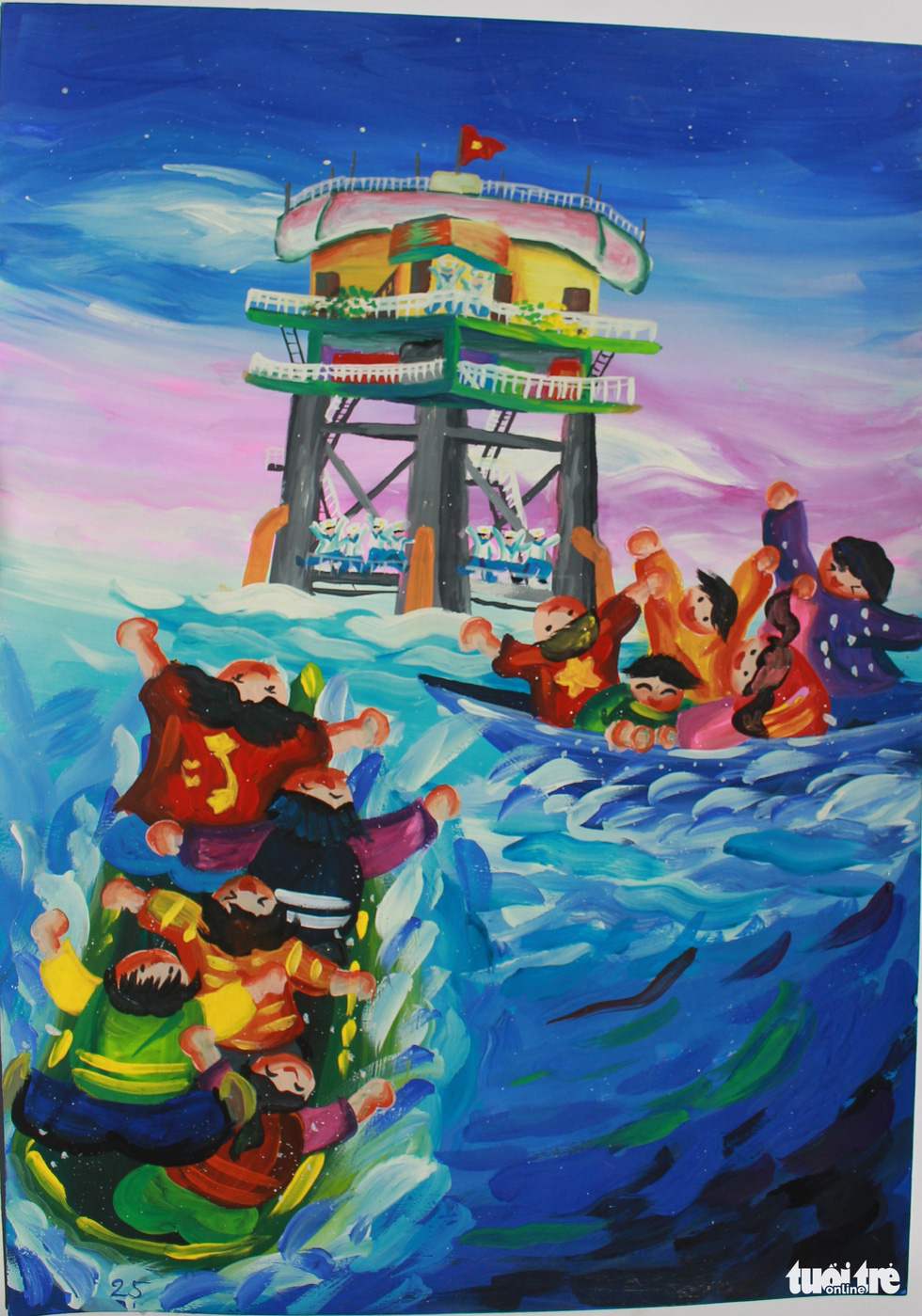 Ước mơ xúc động của trẻ em qua tranh vẽ Hoàng Sa, Trường Sa - Ảnh 12.