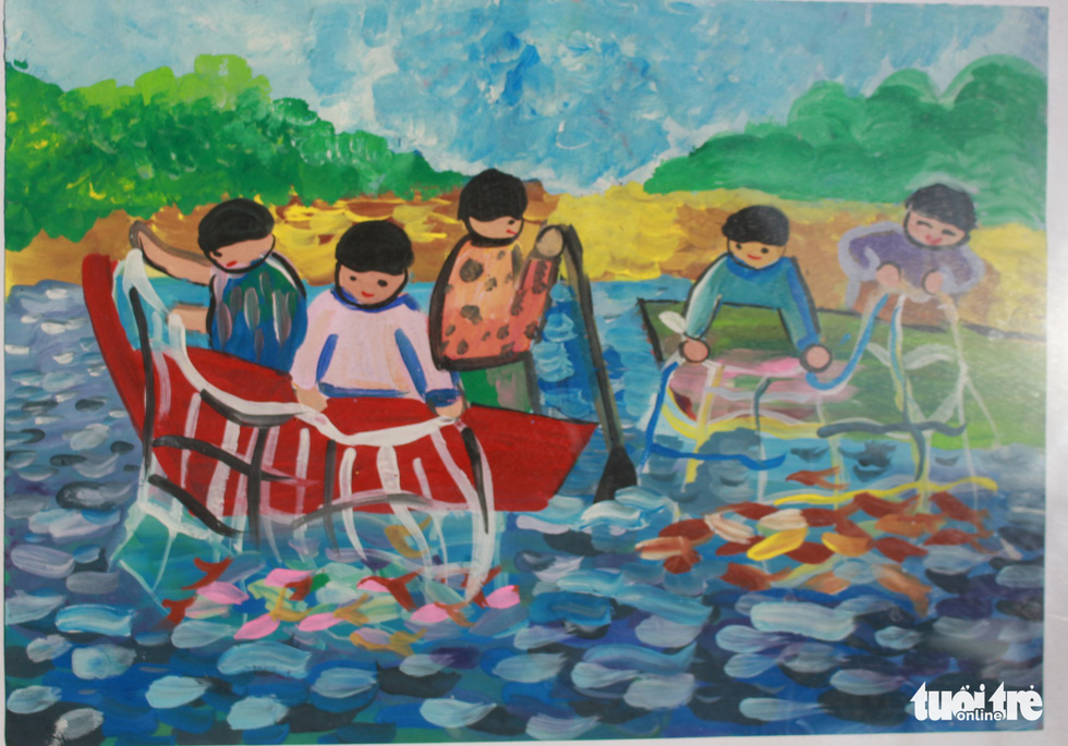 Ước mơ xúc động của trẻ em qua tranh vẽ Hoàng Sa, Trường Sa - Ảnh 13.