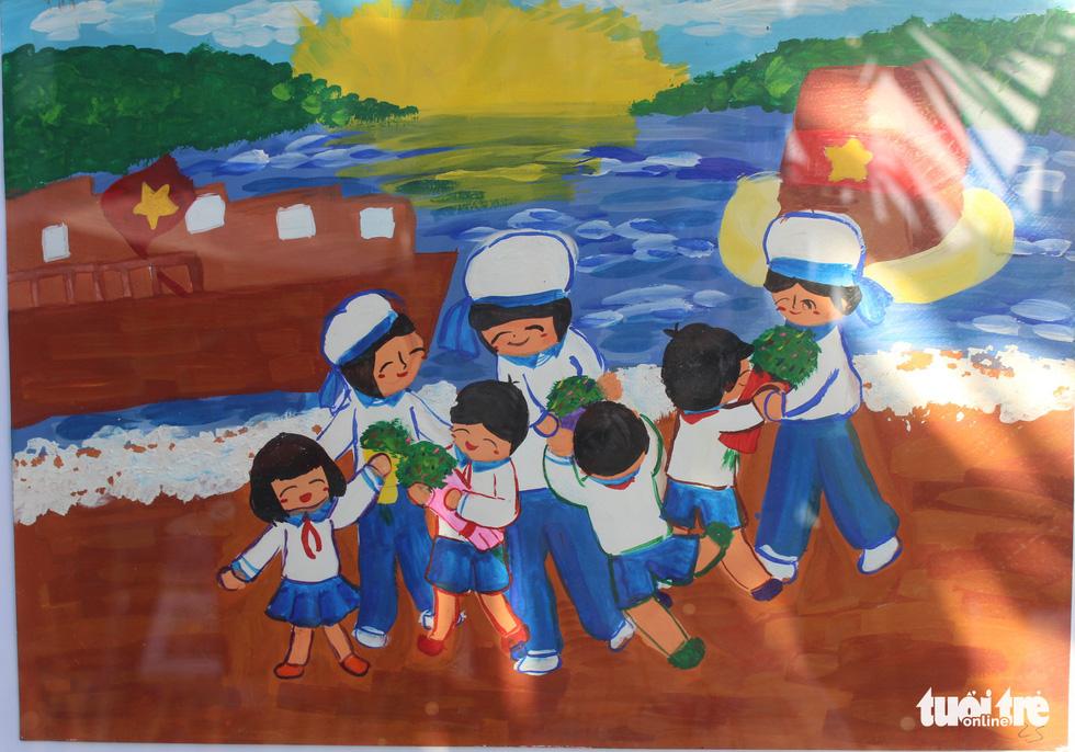 Ước mơ xúc động của trẻ em qua tranh vẽ Hoàng Sa, Trường Sa - Ảnh 14.