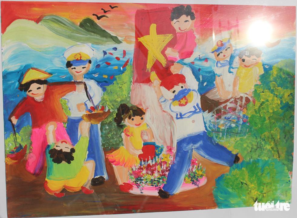 Ước mơ xúc động của trẻ em qua tranh vẽ Hoàng Sa, Trường Sa - Ảnh 15.