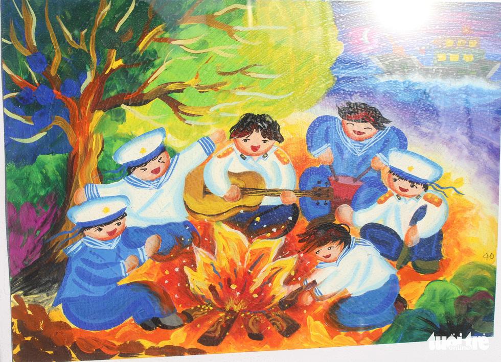 Ước mơ xúc động của trẻ em qua tranh vẽ Hoàng Sa, Trường Sa - Ảnh 16.