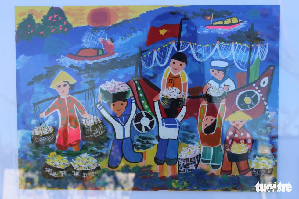 Ước mơ xúc động của trẻ em qua tranh vẽ Hoàng Sa, Trường Sa - Ảnh 21.