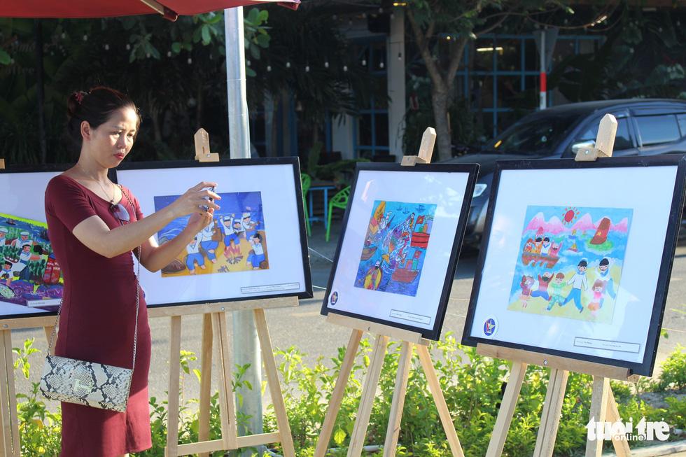 Ước mơ xúc động của trẻ em qua tranh vẽ Hoàng Sa, Trường Sa - Ảnh 24.