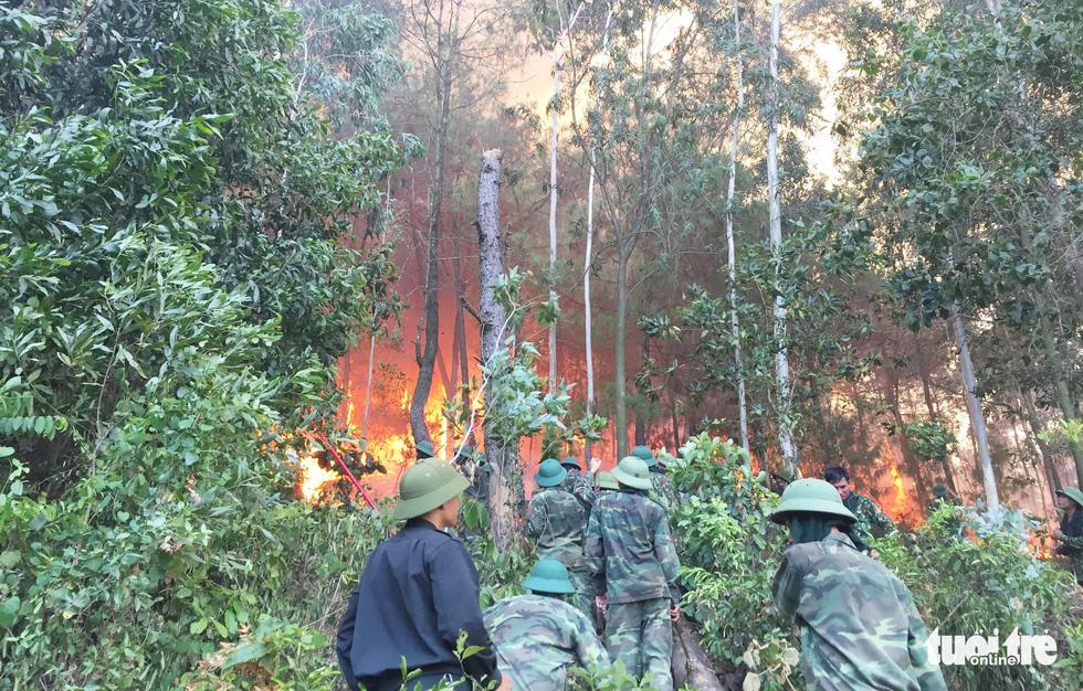 Quân dân căng mình ngày đêm chữa cháy cứu rừng - Ảnh 3.