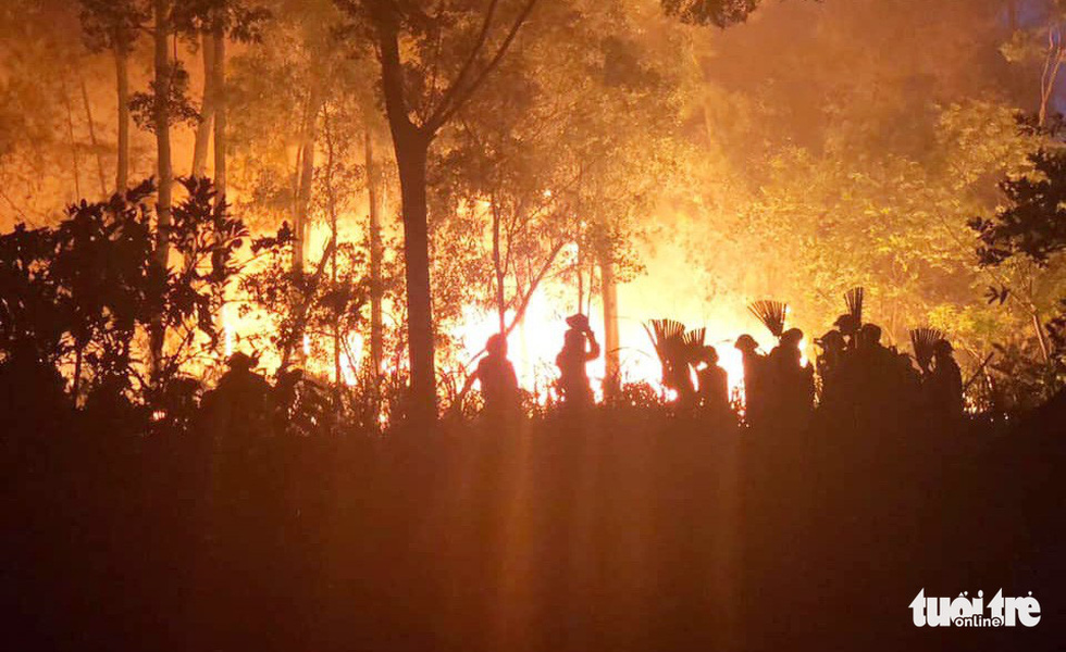 Quân dân căng mình ngày đêm chữa cháy cứu rừng - Ảnh 1.