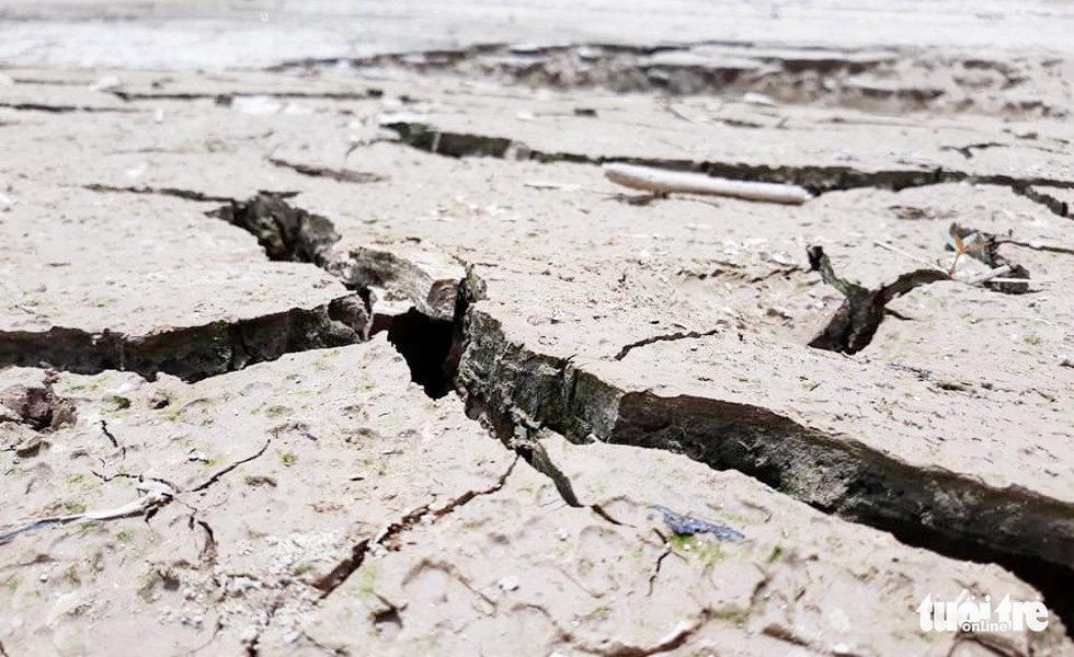 Lòng hồ thủy điện Bản Vẽ cạn trơ, trông như ở hành tinh khác - Ảnh 7.
