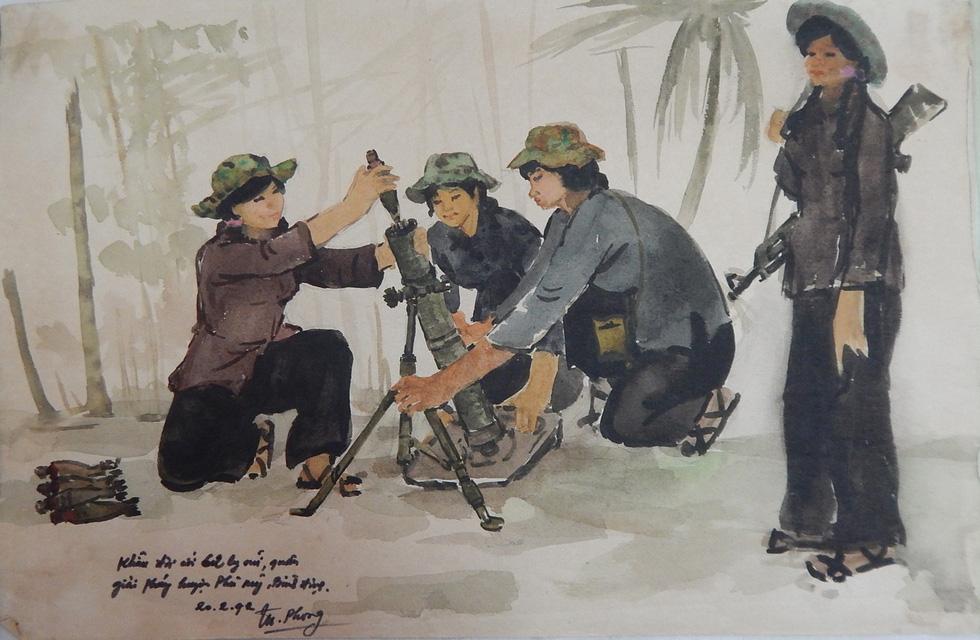 Xem ký họa Ký ức chiến trường của liệt sĩ - họa sĩ Hà Xuân Phong - Ảnh 1.