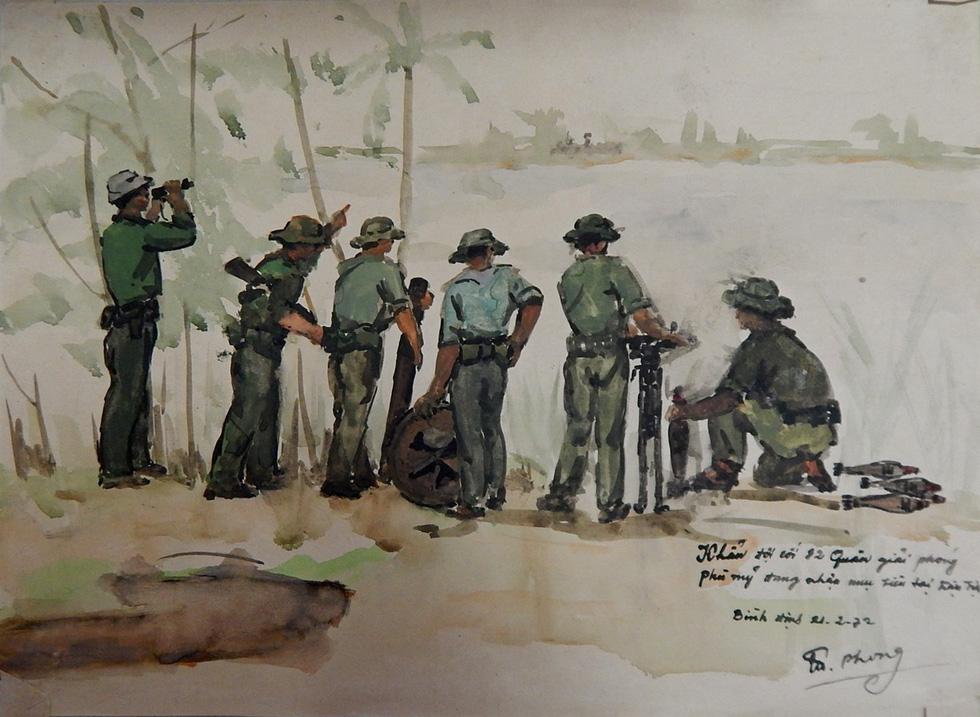 Xem ký họa Ký ức chiến trường của liệt sĩ - họa sĩ Hà Xuân Phong - Ảnh 4.