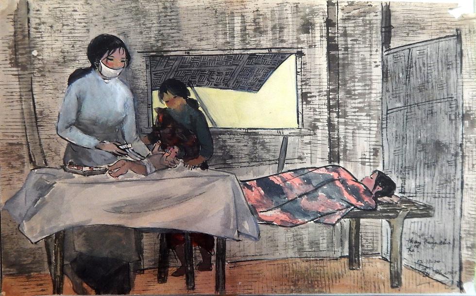 Xem ký họa Ký ức chiến trường của liệt sĩ - họa sĩ Hà Xuân Phong - Ảnh 5.