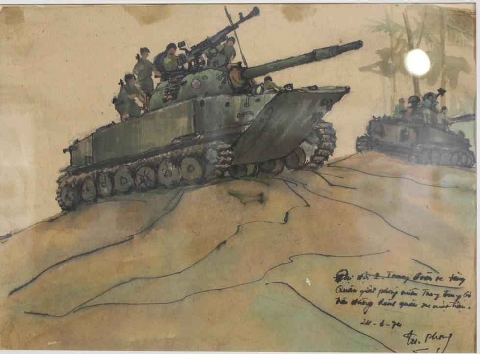 Xem ký họa Ký ức chiến trường của liệt sĩ - họa sĩ Hà Xuân Phong - Ảnh 9.