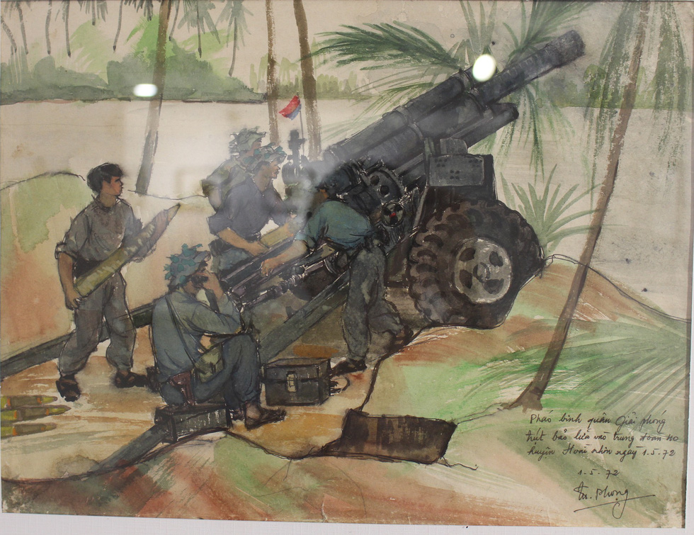 Xem ký họa Ký ức chiến trường của liệt sĩ - họa sĩ Hà Xuân Phong - Ảnh 12.