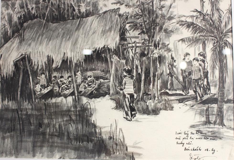 Xem ký họa Ký ức chiến trường của liệt sĩ - họa sĩ Hà Xuân Phong - Ảnh 17.