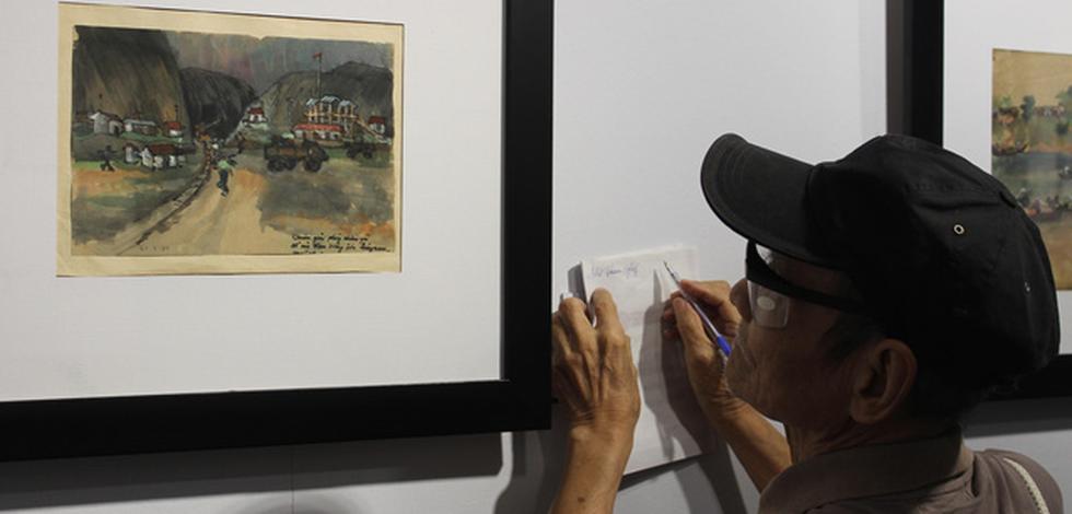 Xem ký họa Ký ức chiến trường của liệt sĩ - họa sĩ Hà Xuân Phong - Ảnh 2.