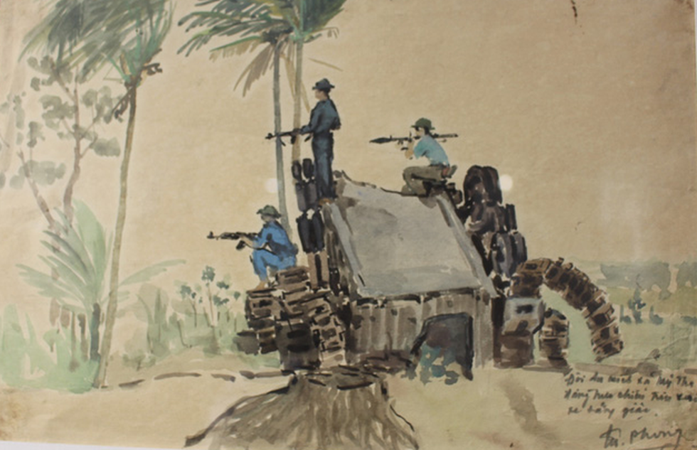Xem ký họa Ký ức chiến trường của liệt sĩ - họa sĩ Hà Xuân Phong - Ảnh 6.