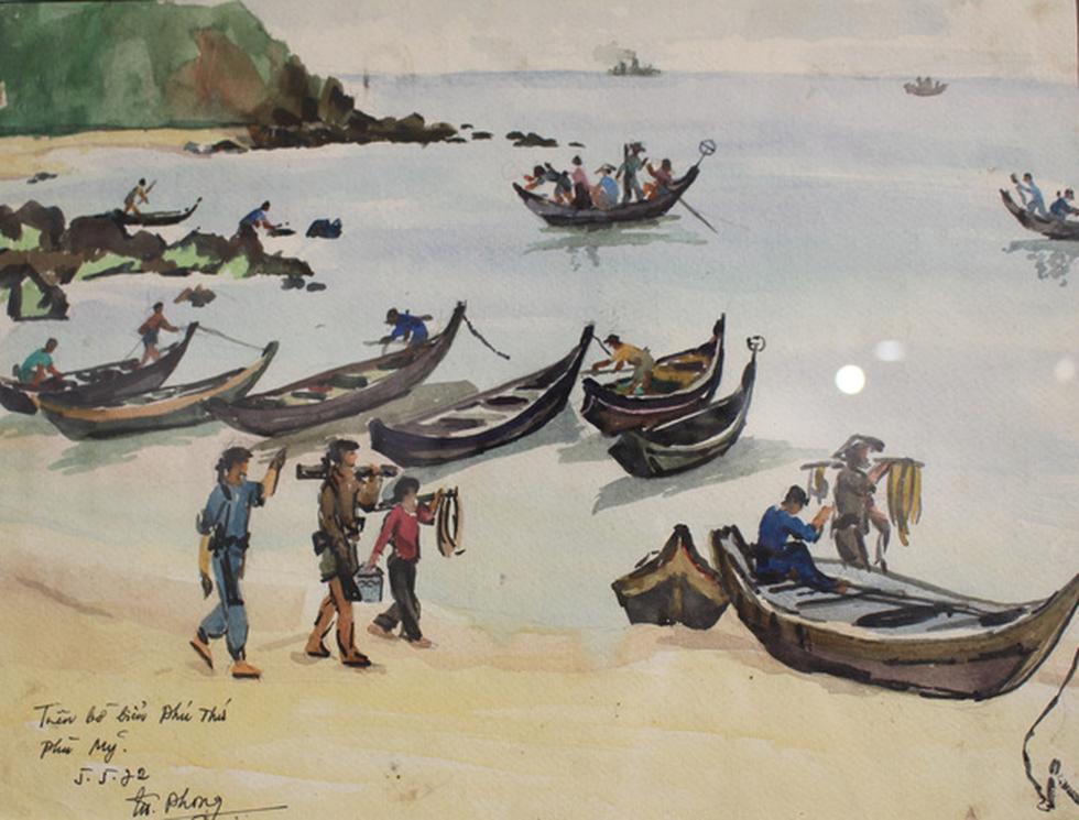 Xem ký họa Ký ức chiến trường của liệt sĩ - họa sĩ Hà Xuân Phong - Ảnh 7.
