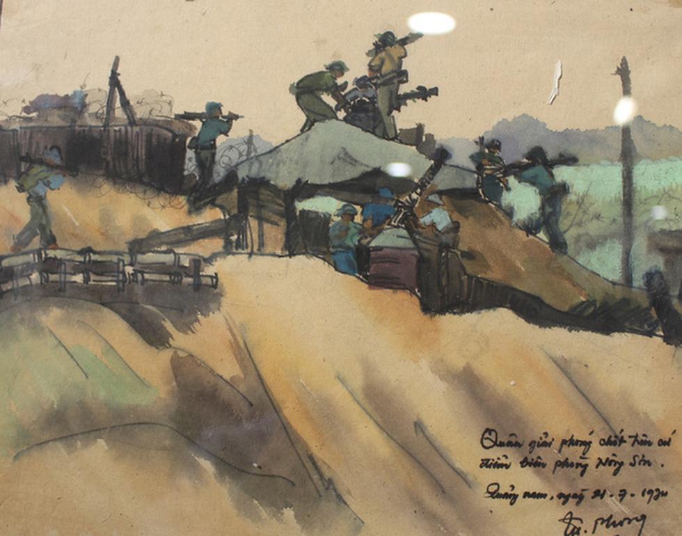 Xem ký họa Ký ức chiến trường của liệt sĩ - họa sĩ Hà Xuân Phong - Ảnh 14.