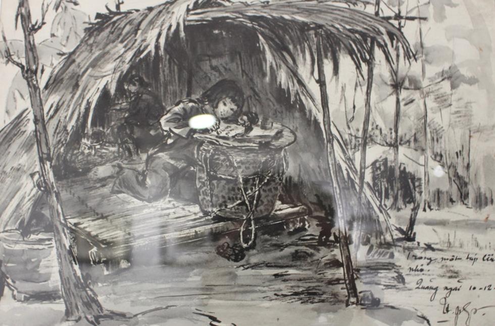 Xem ký họa Ký ức chiến trường của liệt sĩ - họa sĩ Hà Xuân Phong - Ảnh 18.