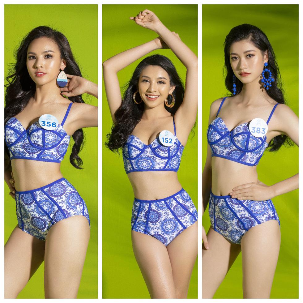 34 thí sinh Miss World Việt Nam 2019 trong trang phục bikini... kín đáo - Ảnh 1.