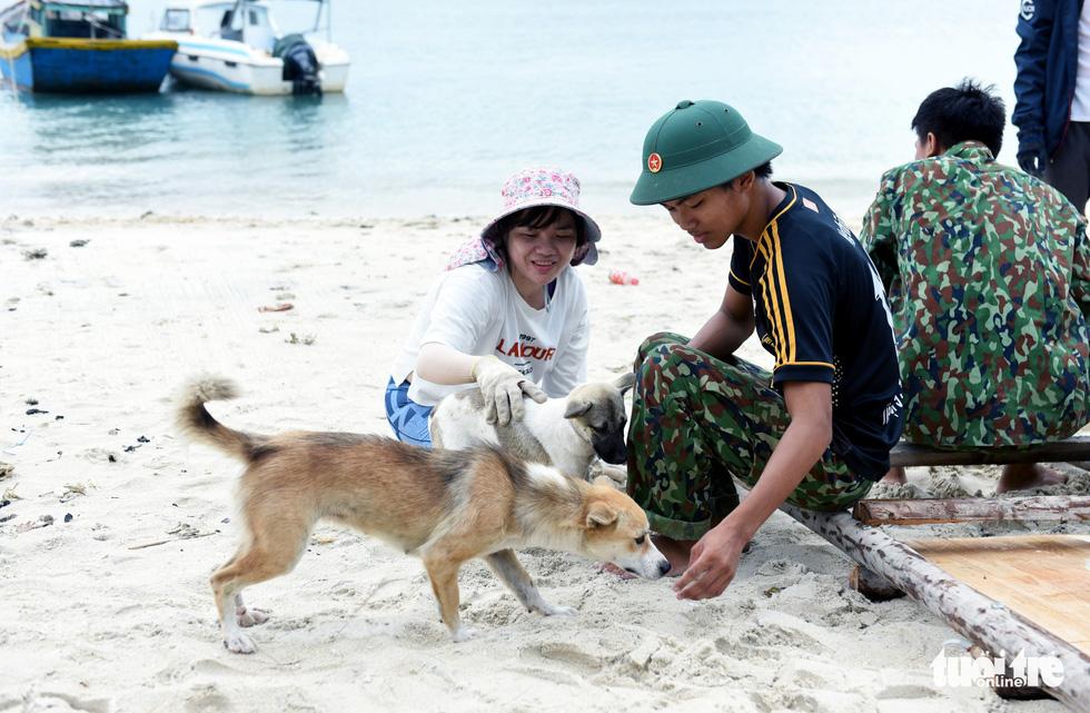 Người trẻ tình nguyện ra chăm chút từng góc đảo Hòn Cau - Ảnh 5.