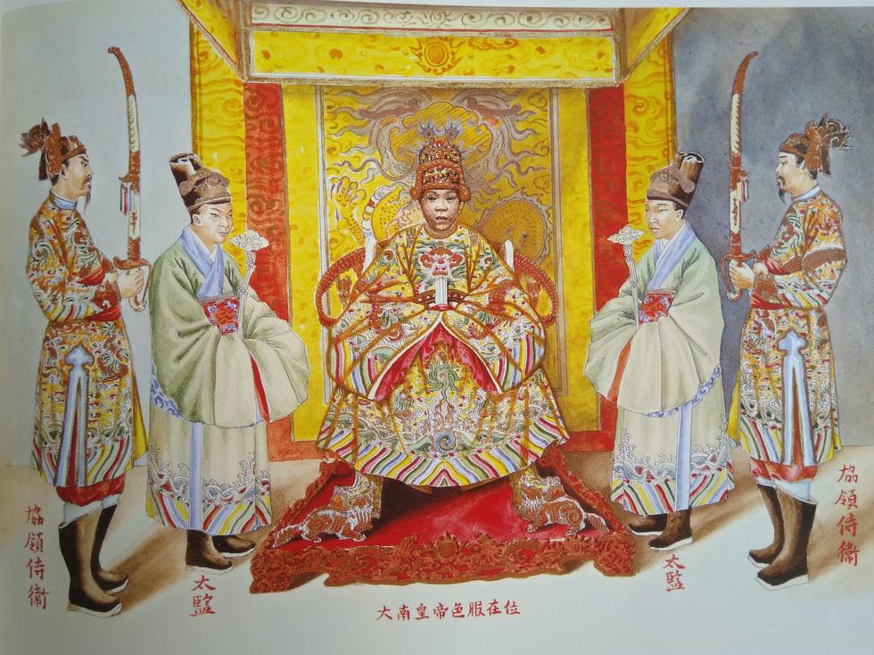 Trăm năm lưu lạc của bộ tranh quý Đại lễ phục triều Nguyễn - Ảnh 1.