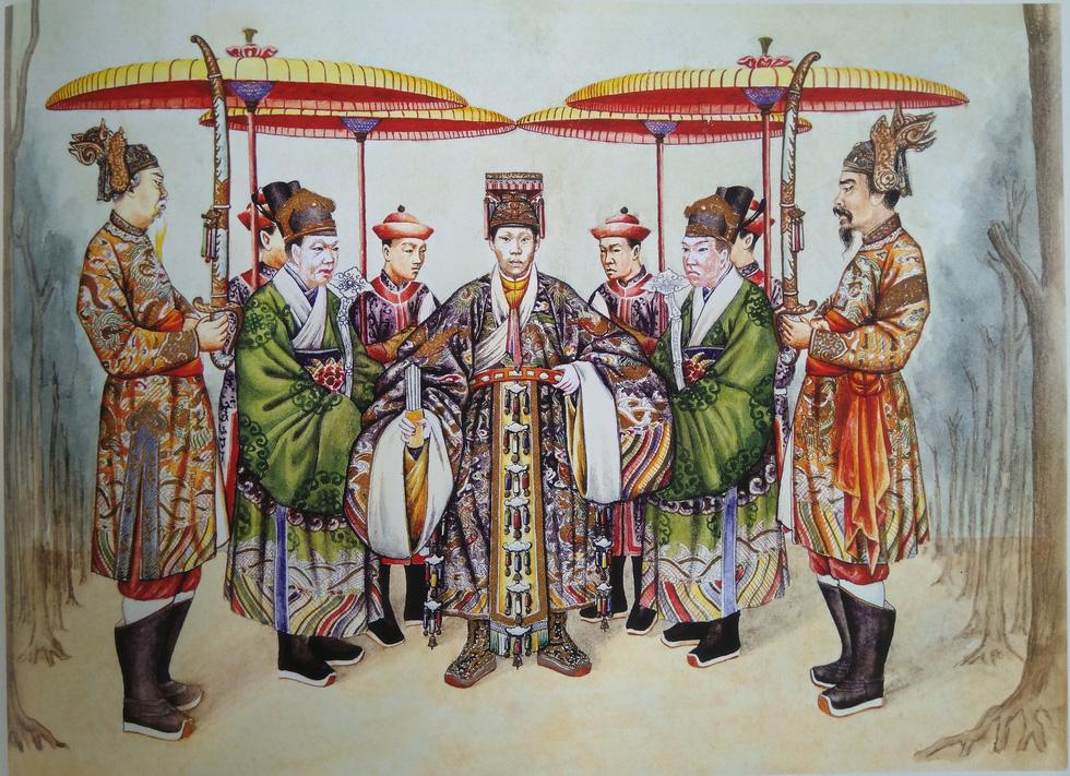 Trăm năm lưu lạc của bộ tranh quý Đại lễ phục triều Nguyễn - Ảnh 2.