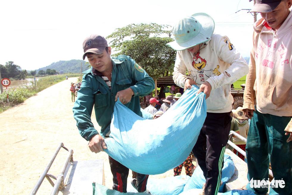 Cả làng đắp đê suốt 3 ngày đêm, cứu hơn 1.000ha lúa sắp thu hoạch - Ảnh 4.