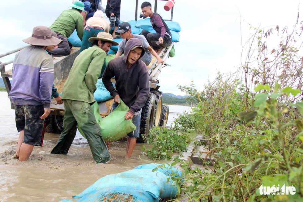 Cả làng đắp đê suốt 3 ngày đêm, cứu hơn 1.000ha lúa sắp thu hoạch - Ảnh 5.