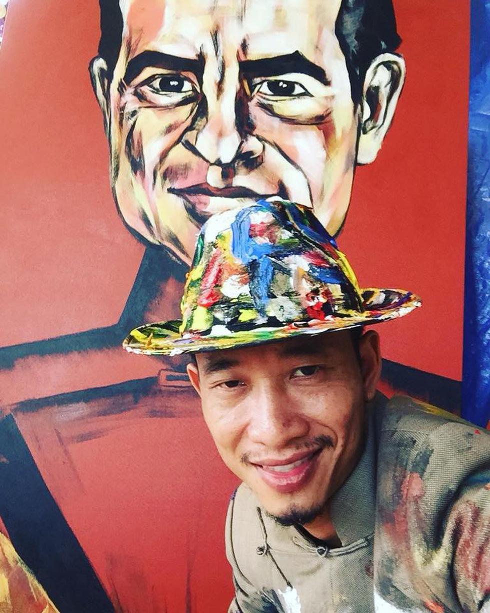 Họa sĩ Việt vẽ 44 tổng thống Mỹ mặc áo dài dù chưa từng gặp ai - Ảnh 2.