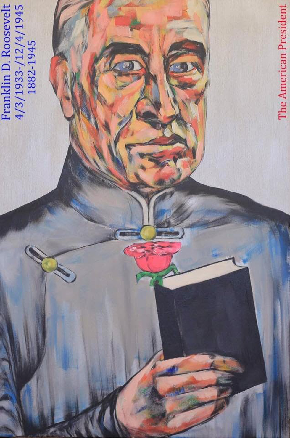 Họa sĩ Việt vẽ 44 tổng thống Mỹ mặc áo dài dù chưa từng gặp ai - Ảnh 9.