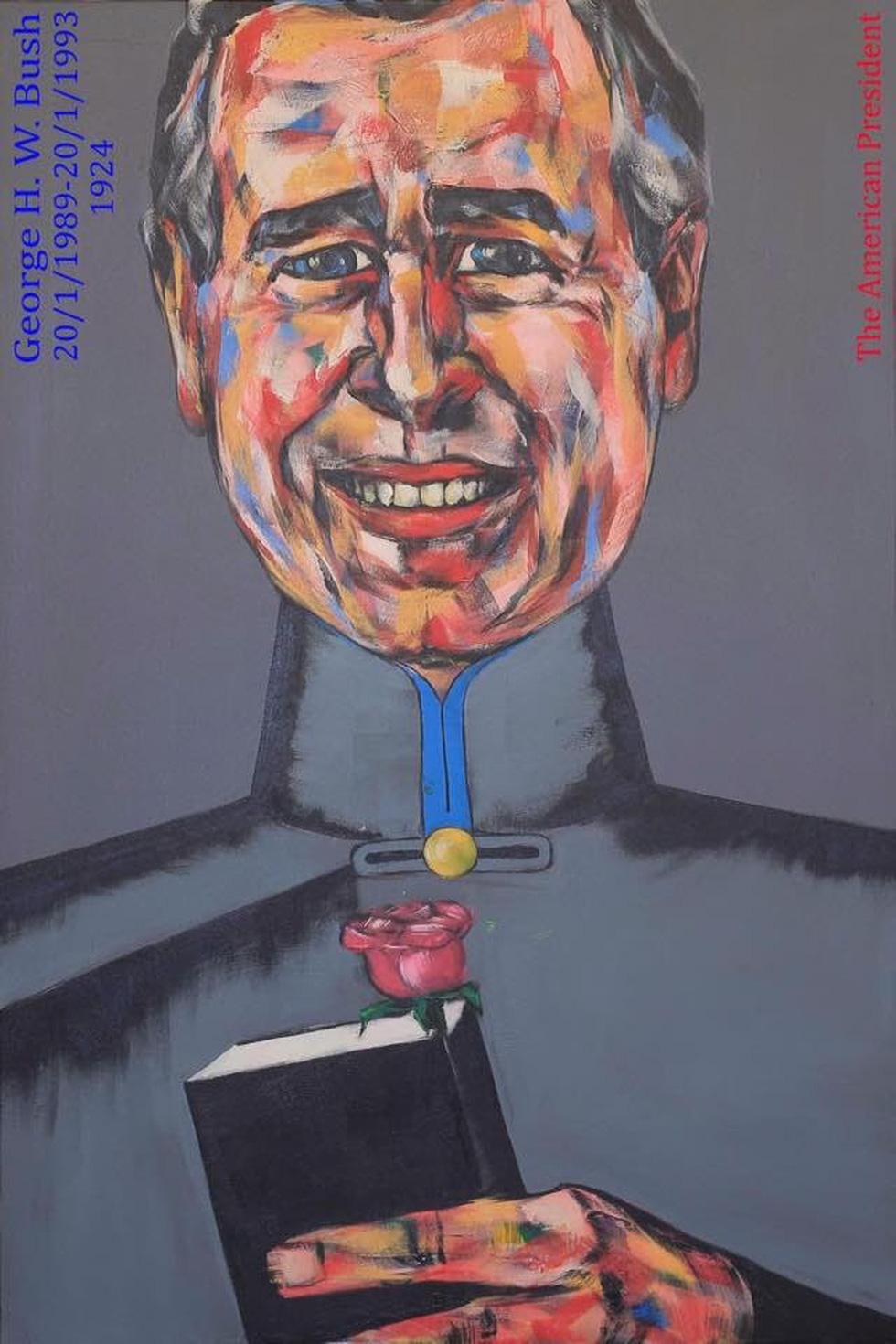 Họa sĩ Việt vẽ 44 tổng thống Mỹ mặc áo dài dù chưa từng gặp ai - Ảnh 7.